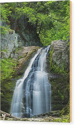 Wood Print featuring the photograph Cascade Falls In South Portland In Maine by Ranjay Mitra