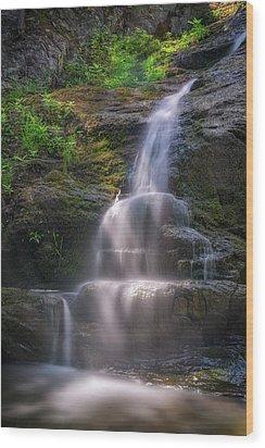 Wood Print featuring the photograph Cascade Falls, Saco, Maine by Rick Berk