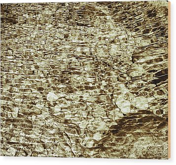 Wood Print featuring the photograph Cascade Reflections by Tom Vaughan