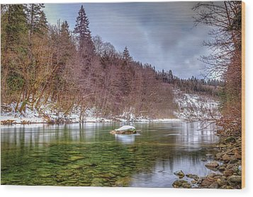 Wood Print featuring the photograph Cascade River Rocks by Spencer McDonald