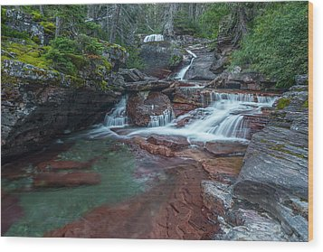 Wood Print featuring the photograph Cascades by Gary Lengyel