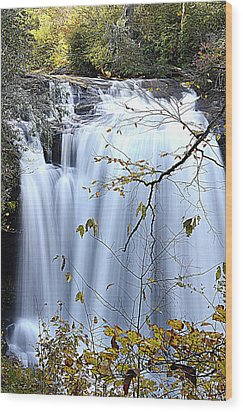 Cascading Water Fall Wood Print