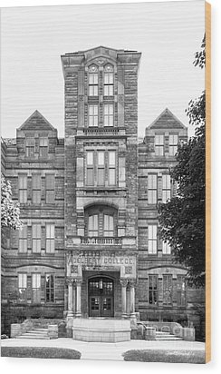 Case Western Reserve University Adelbert Hall Wood Print by University Icons