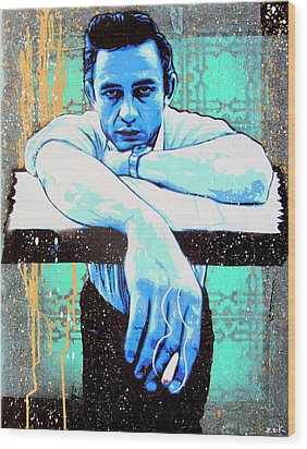 Cash - Preacher Man  Wood Print by Bobby Zeik