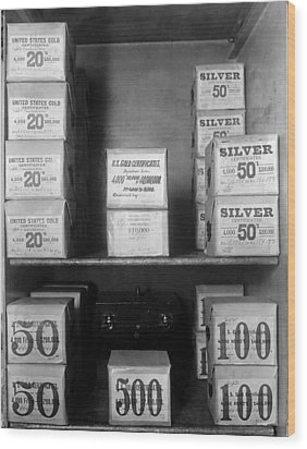 Cash Vault Of The United States Wood Print by Everett