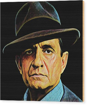 Cash With Hat Wood Print by Gary Grayson