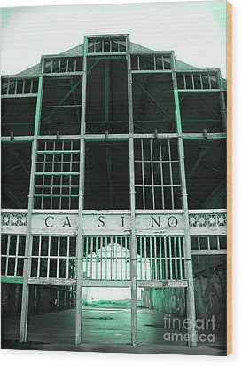 Casino Wood Print by Colleen Kammerer
