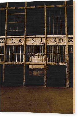 Casino Wood Print by Joe  Burns