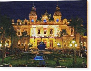 Casino Monte Carlo Wood Print by Jeff Kolker