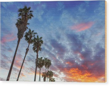 Casitas Palms Wood Print by John A Rodriguez