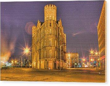 Cass Castle Detroit Mi Wood Print