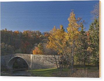 Casselman River Bridge Wood Print by Gregory Scott