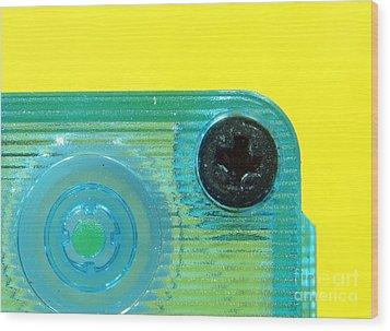 Cassette Tape Closeup Wood Print by Yali Shi