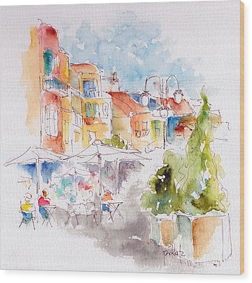 Cassis Along The Promenade Wood Print
