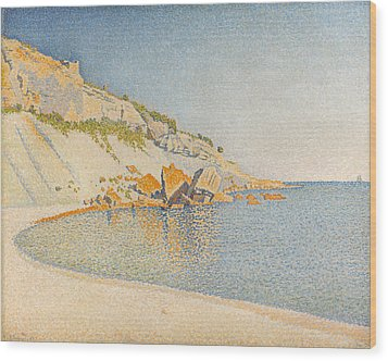 Wood Print featuring the painting Cassis. Cap Lombard. Opus 196 by Paul Signac