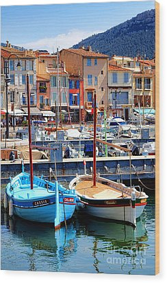 Wood Print featuring the photograph Cassis Harbor by Olivier Le Queinec