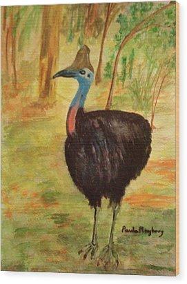 Cassowary Bird Wood Print