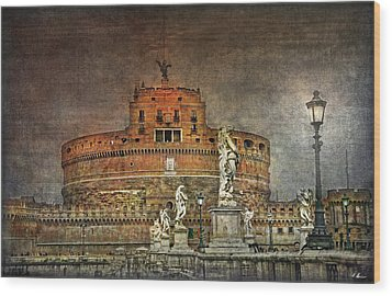 Wood Print featuring the photograph Castel Sant Angelo Fine Art by Hanny Heim