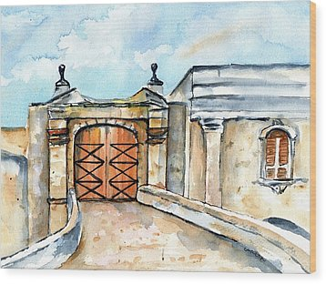 Castillo De San Cristobal Entry Gate Wood Print
