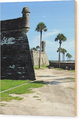 Wood Print featuring the photograph Castillo De San Marcos St Augustine Florida by Bill Holkham