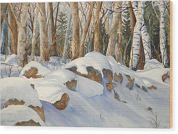 Casting Shadows Wood Print