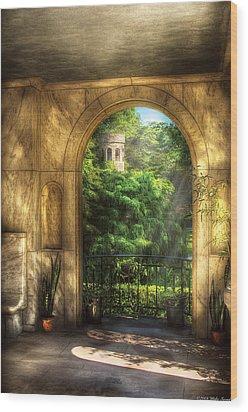 Castle - Just Beyond Wood Print by Mike Savad