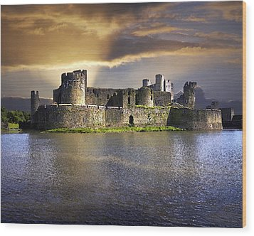 Castle At Dawn Wood Print