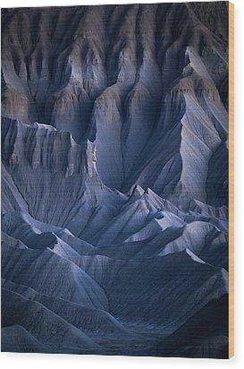 Castle Blue Wood Print by Dustin LeFevre