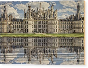 Wood Print featuring the photograph Castle Chambord by Heiko Koehrer-Wagner