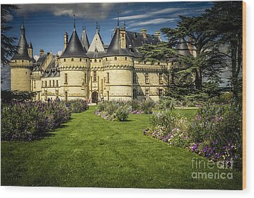 Wood Print featuring the photograph Castle Chaumont With Garden by Heiko Koehrer-Wagner