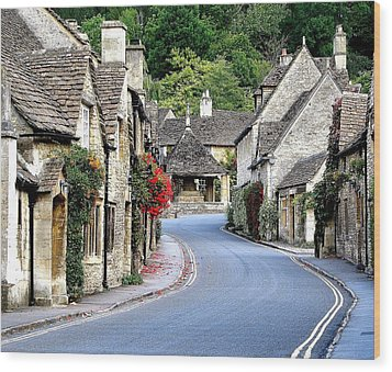 Castle Combe Wood Print by Diane Height