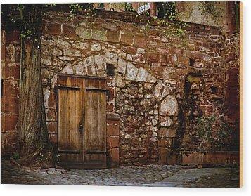 Castle Doors Wood Print