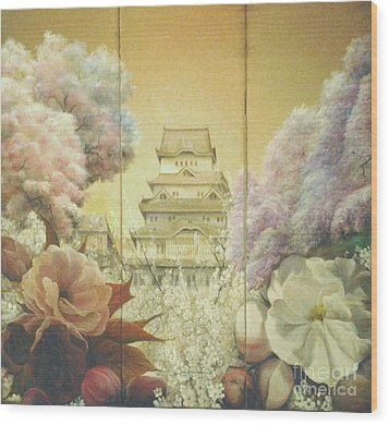 Castle Himeji - Sakura Wood Print by Sorin Apostolescu