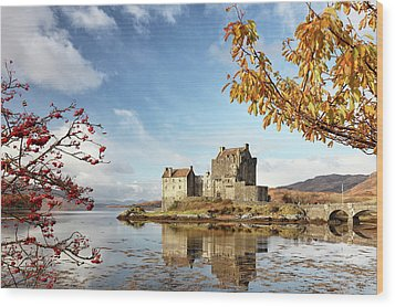Wood Print featuring the photograph Castle In Autumn by Grant Glendinning
