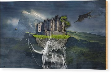 Castle In The Sky Art Wood Print