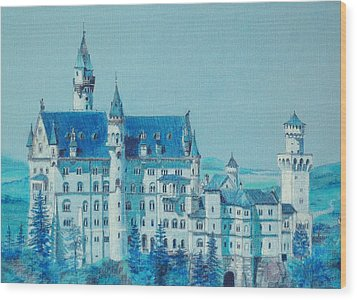 castle Neuswanstein Wood Print by Radchenko Julia