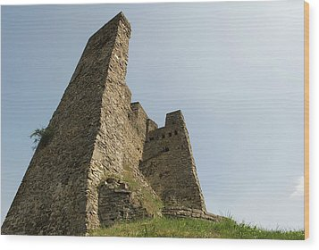 Wood Print featuring the photograph Castle Of Dasburg Near The Ardennes  - Natioanlpark Eifel - Germany by Urft Valley Art
