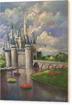 Castle Of Dreams Wood Print by Randy Burns