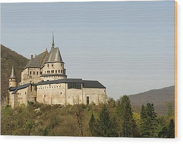 Wood Print featuring the photograph Castle Of Vianden - Margarete Of Courtenay -  King Philip-augustus - King William Of Holland by Urft Valley Art