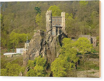 Castle On A Rock Wood Print