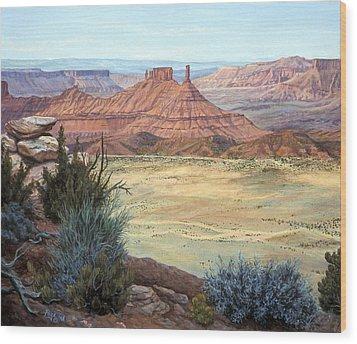 Castle Rock Iv Wood Print