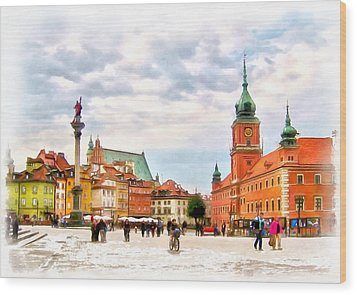 Castle Square, Warsaw Wood Print