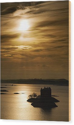 Castle Stalker At Sunset, Loch Laich Wood Print by John Short
