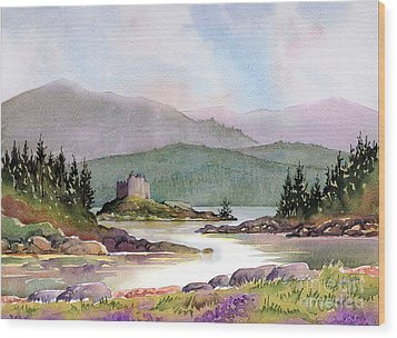 Castle Tioram  Wood Print by Anthony Forster