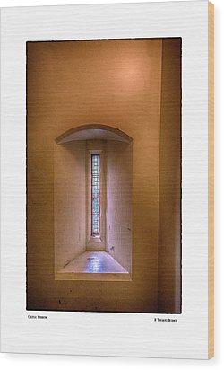 Castle Window Wood Print
