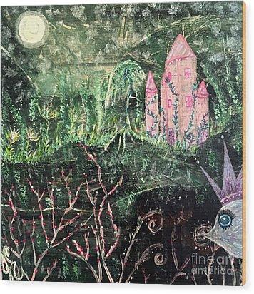 Castle Wisteria Wood Print by Julie Engelhardt
