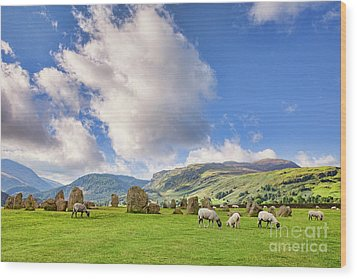 Wood Print featuring the photograph Castlerigg Stone Circle by Colin and Linda McKie