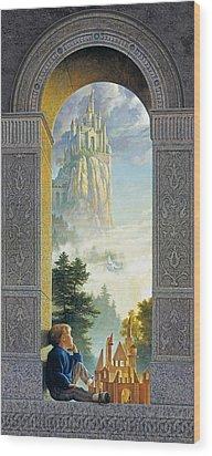 Castles In The Sky Wood Print by Greg Olsen