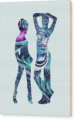 Casual Wood Print by Anastasiya Malakhova