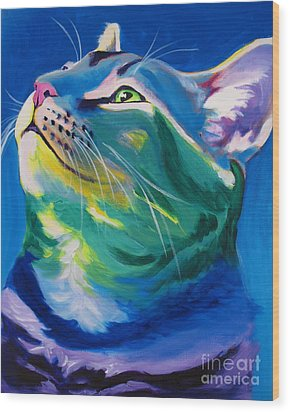 Cat - My Own Piece Of Sky Wood Print by Alicia VanNoy Call